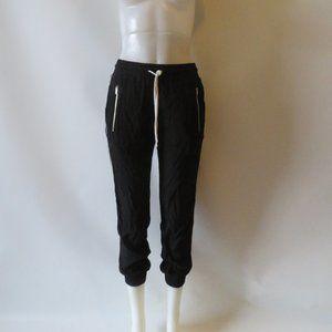 WOMENS MONROW BLACK/WHITE JOGGER PANTS SZ XS*